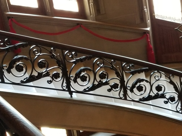 castle decor stair railing