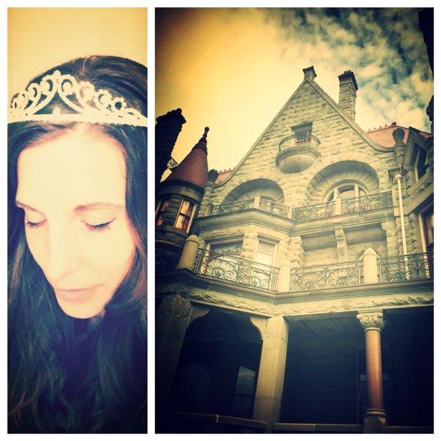 Sonia in a tiara