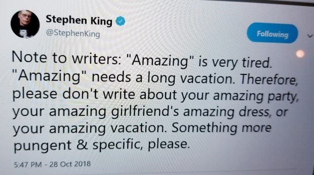stephen king on amazing