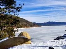 big bear lake frozen