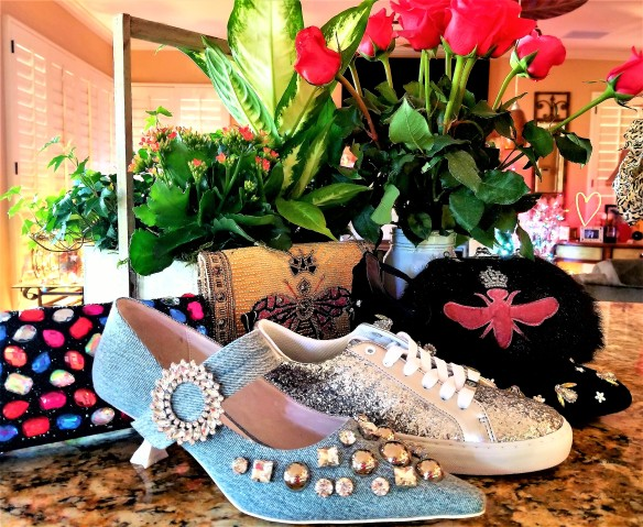 bling shoes handbags