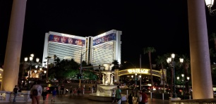 LV night mirage with venetian fountain