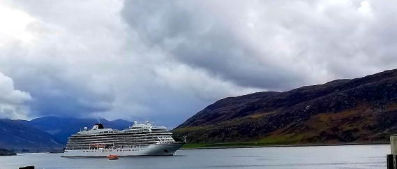 Viking sun in Ullapool