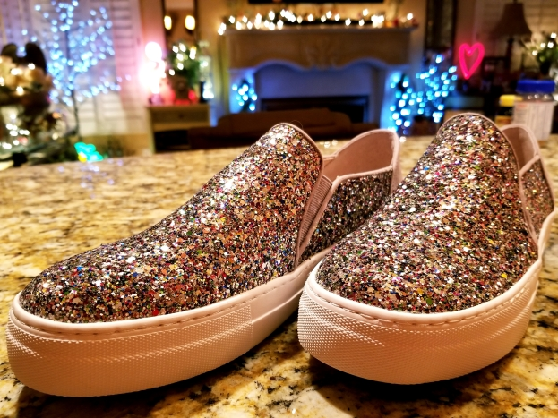 Kate Spade glitter tennies