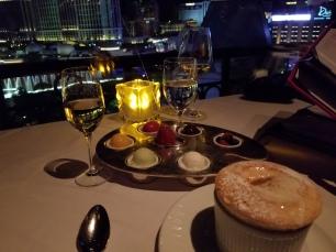 dessert at the Paris restaurant overlooking Bellagio