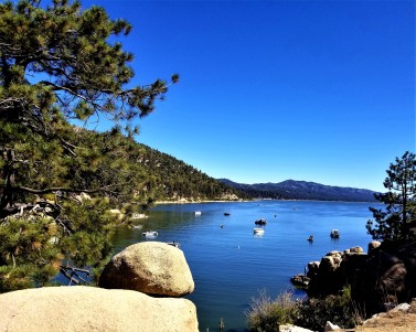 big bear lake rock view