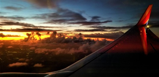 sunset at 30k feet
