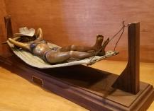 JH bronze cowgirl siesta hammock