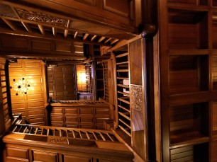 craigdarroch stairway wood paneling from chicago victoria bc