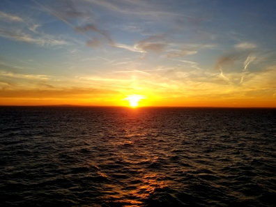 sunset heading to dublin my viking story