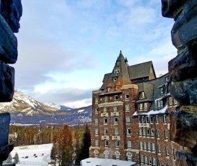 Banff castle morning sky