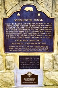 winchester mystery mansion plaque