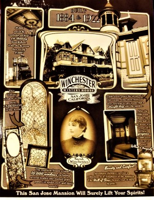 winchester mystery mansion postcard