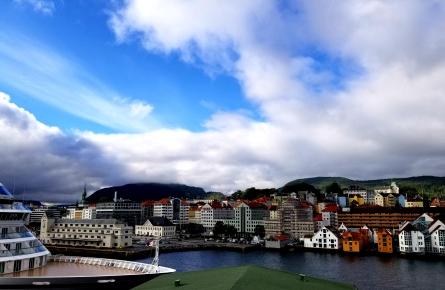 Bergen port from the viking Sun