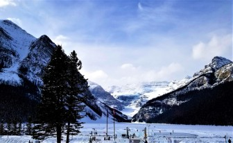 Lake Louise frozen