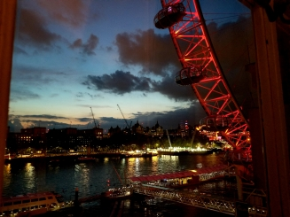 London eye sunset river thames from marriot