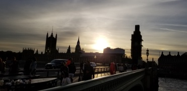 London sunset parliament big ben westminster bridge