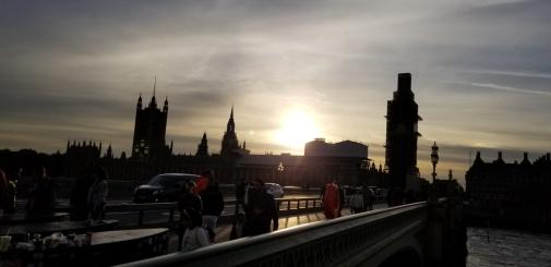 London sunset parliament big ben westminster bridge