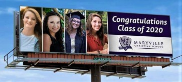 Shauna class of 2020 billboard sign
