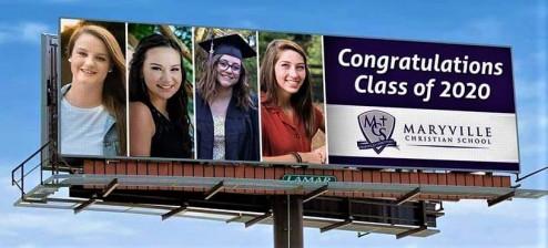 Shauna class of 2020 billboard sign