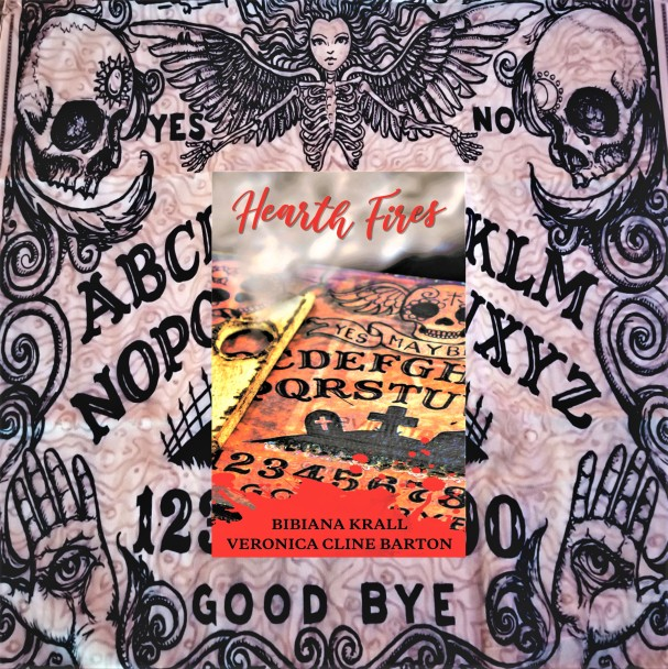 Hearth Fires cover with ouija board background